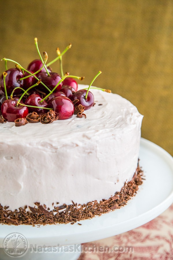 Drunken Cherry Chocolate Cake-7-4