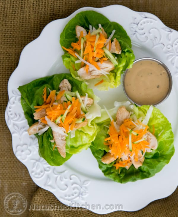 These Chicken Lettuce wraps are a healthy option for lunch or dinner. Try it and you'll see exactly what I mean! Simple and delicious! Video Recipe.