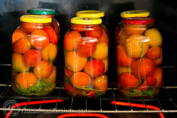 My mother's recipe for canned tomatoes. So much better than any store-bought canned tomatoes. With tips for how to can tomatoes.