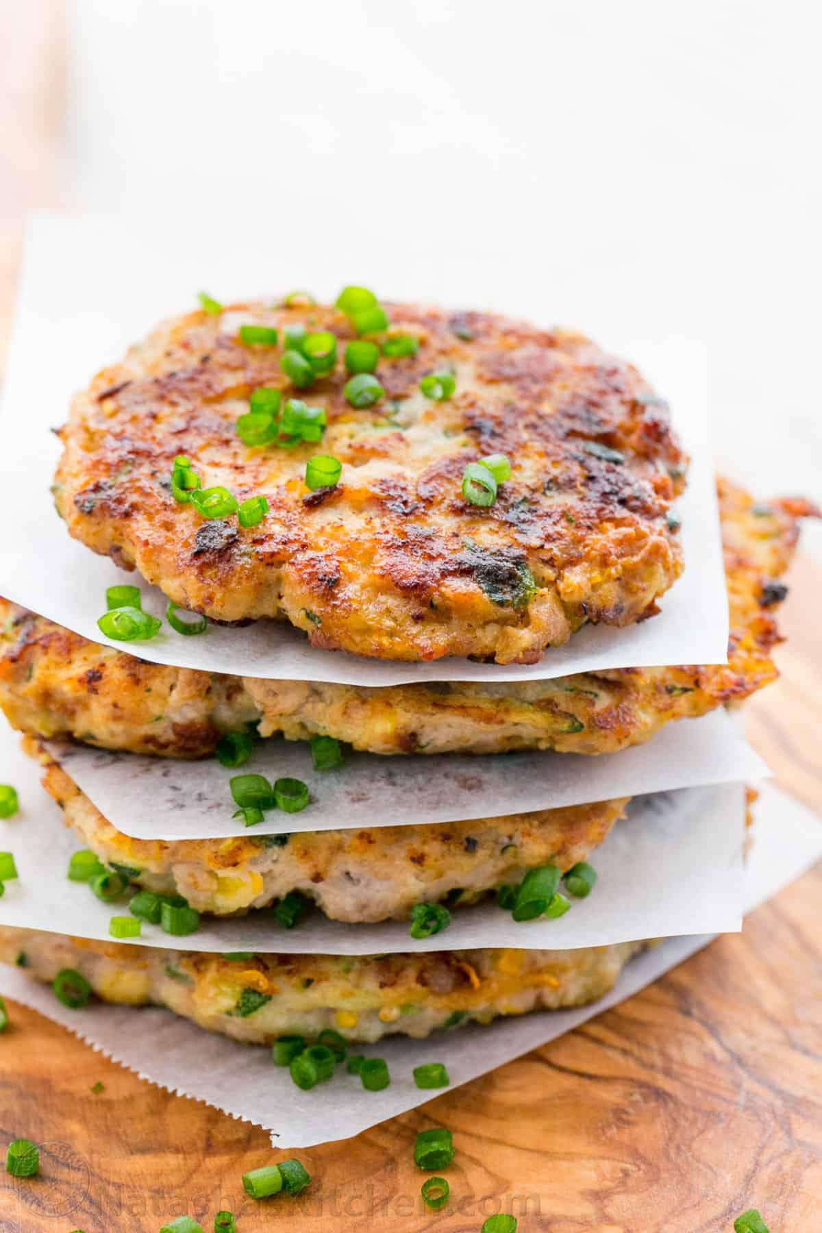 Chicken zucchini fritters recipe natasha 39 s kitchen for Natashas kitchen