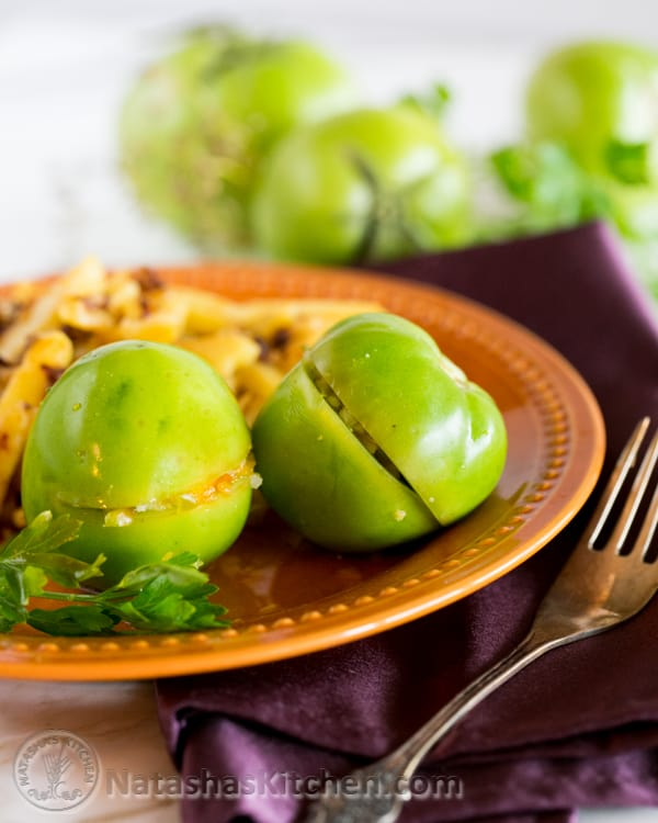 Green Marinated Tomatoes