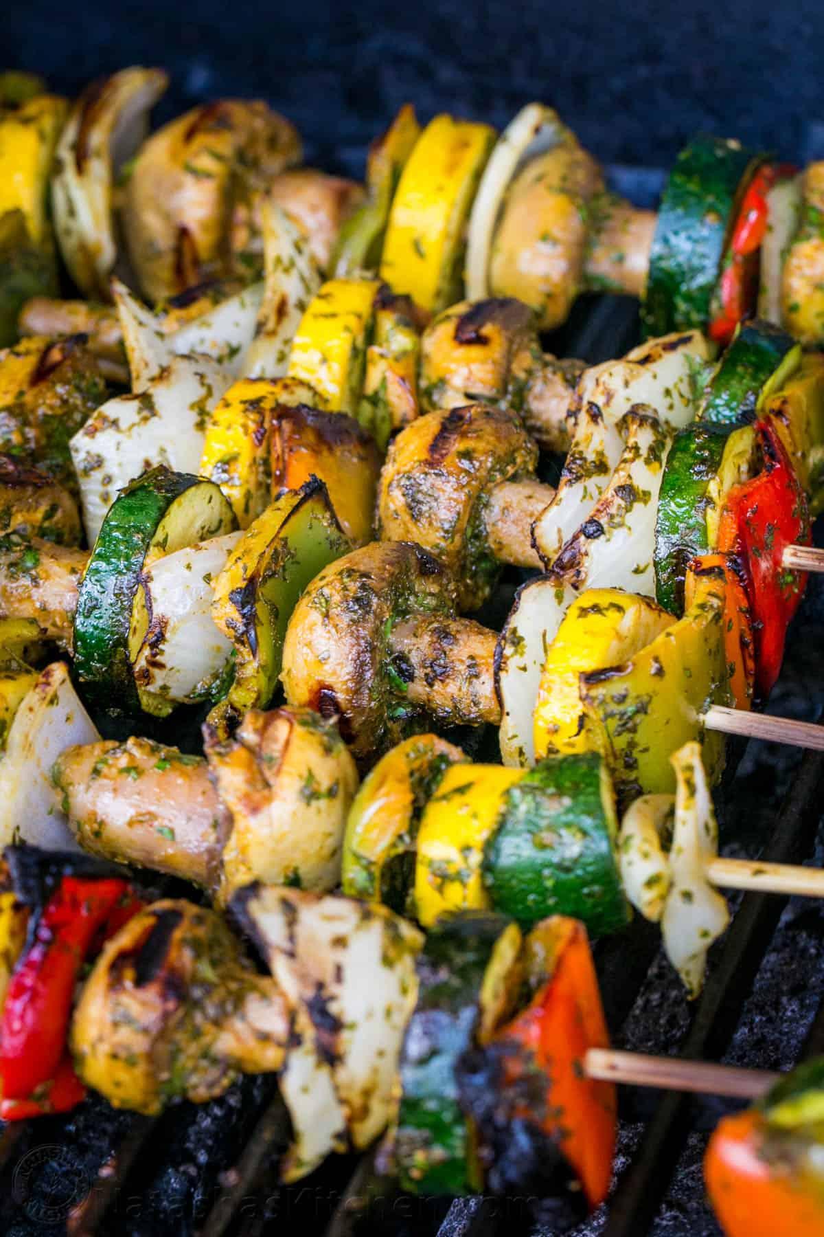 Grilled Moroccan Vegetable Skewers Natashaskitchen Com