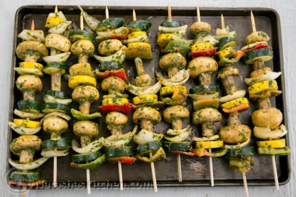 Moroccan Vegetable Skewers-5