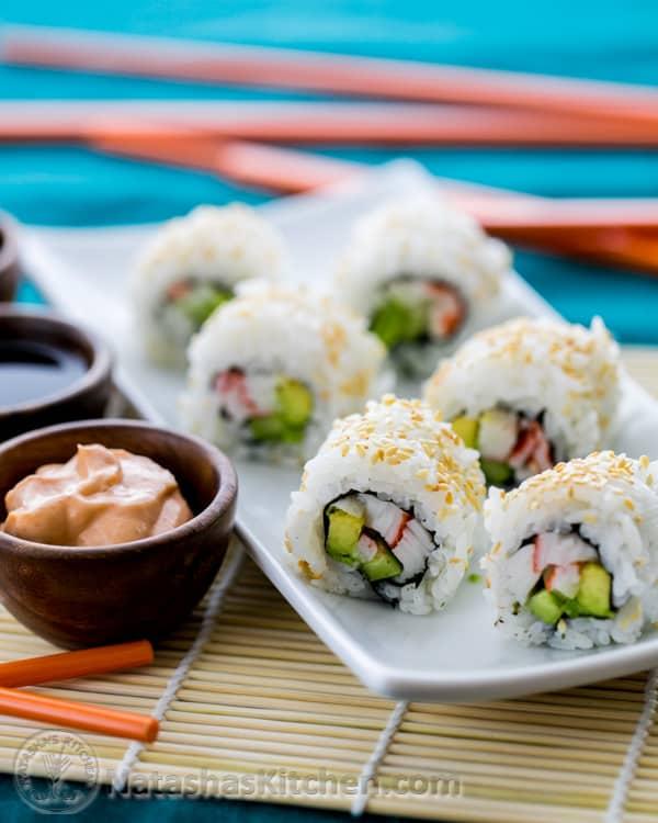 Sushi Rice and California Rolls Recipe