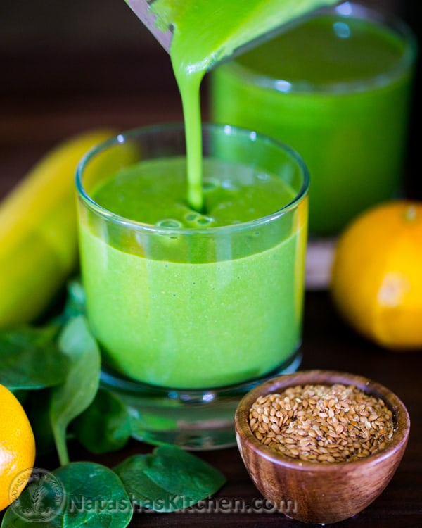 This green flaxie smoothie is delicious, nutritious, energy boosting ...
