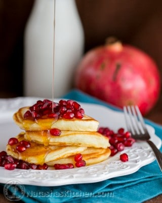 This recipe for quick and easy buttermilk pancakes is so easy and buttermilk pancakes turn out fluffy and delicious; perfection. You're gonna love 'em!