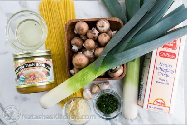 Mushroom and Leek Pasta