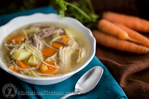 Turkey Noodle Soup Wide