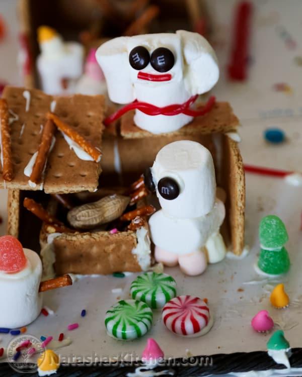 Gingerbread Manger Gingerbread House-12