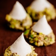 These Meringue Acorns are a real show stopper and taste heavenly. Vanilla meringue surrounded by melted chocolate truffles and covered with salty nuttiness   natashaskitchen.com
