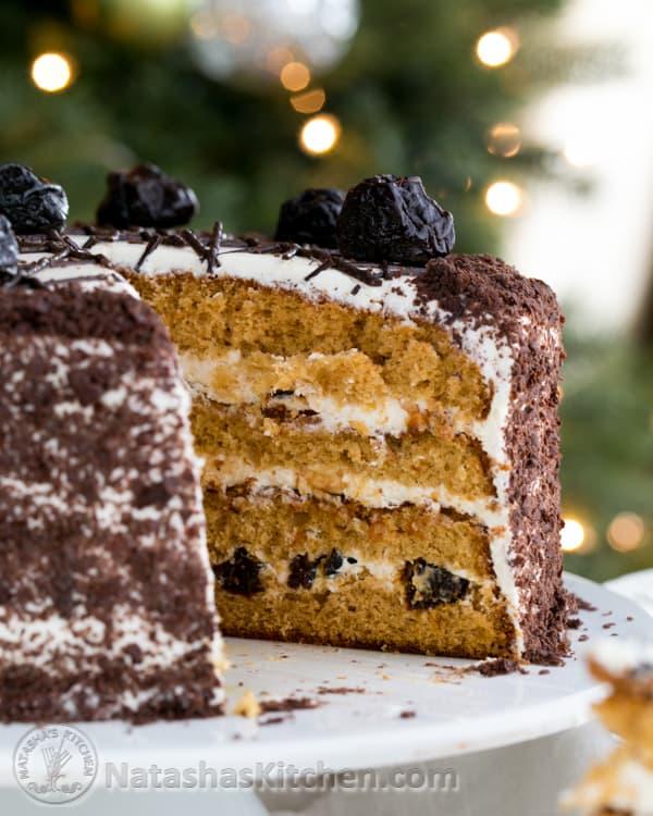 Prune honey cake recipe for Natashas kitchen