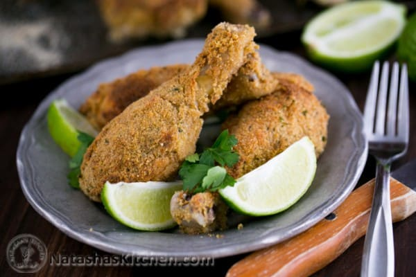 Breaded And Baked Chicken Drumsticks Recipe — Dishmaps