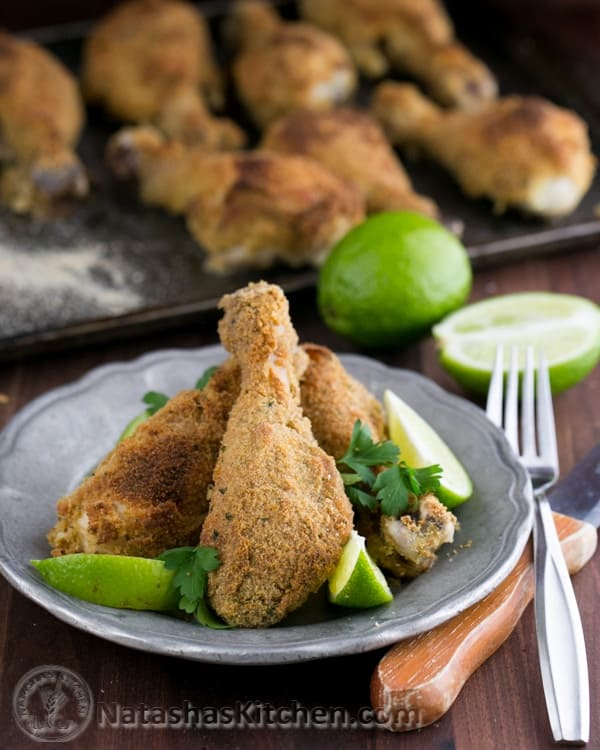 Breaded Baked Chicken Drumsticks Recipe - Natasha's Kitchen