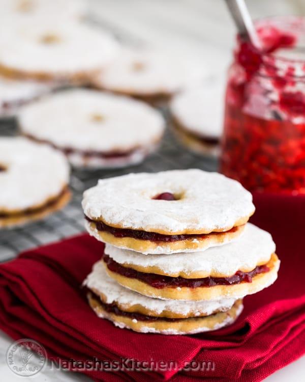 Jam Filled Sandwich Cookies (Zirochki)