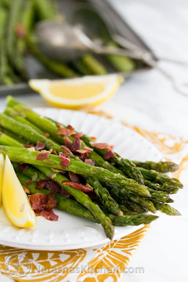 Roasted Asparagus with Bacon. Scrumptious! @NatashasKitchen