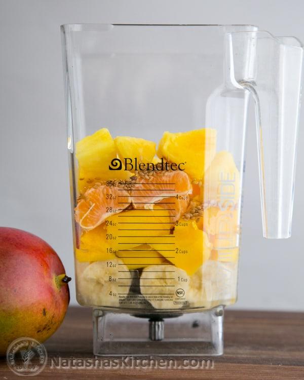 Tropical Mango Pineapple Smoothie-3