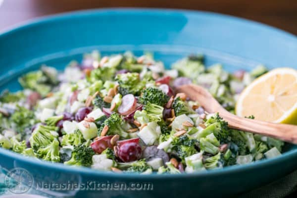 Broccoli Grape and Cucumber Salad-4