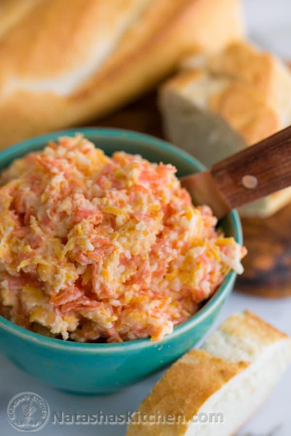 Carrot and Cheese Spread @NatashasKitchen