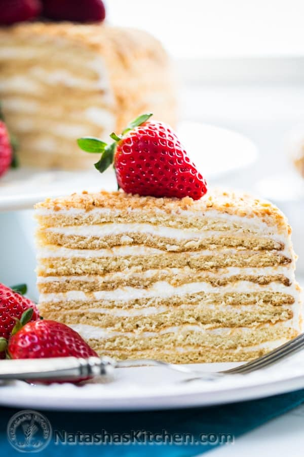 Http Natashaskitchen Com     Layer Honey Cake Recipe Medovik