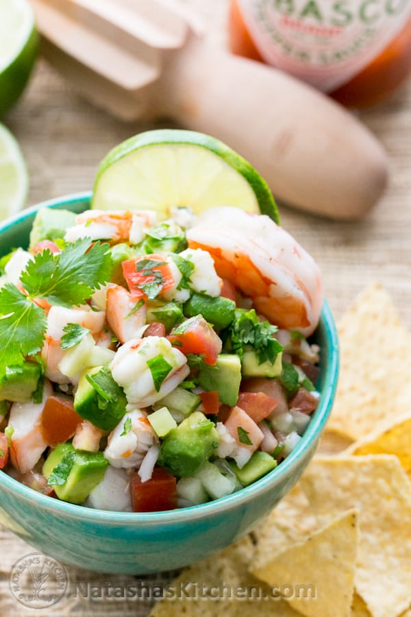 A Skinny Shrimp & Avocado Salsa. This stuff is so addictive. Our favorite salsa! @NatashasKitchen