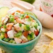 A Skinny Shrimp & Avocado Salsa. This stuff is so addictive. Our favorite salsa! @NatashasKitchen