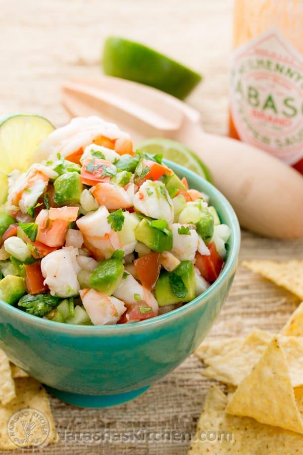 Skinny Shrimp Salsa Recipe — Dishmaps