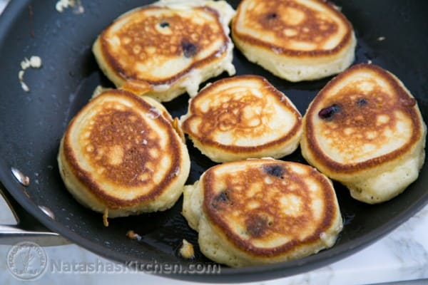 Sour Cream Blueberry pancakes-2