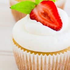 The perfect cupcake frosting. Easy and so much better than store-bought!
