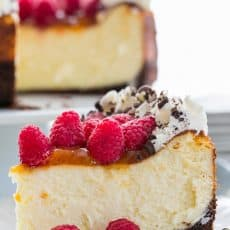 This is the best raspberry apricot cheesecake with chocolate crust I've ever made, or tried. It's creamy, decadent and will excite your taste buds.