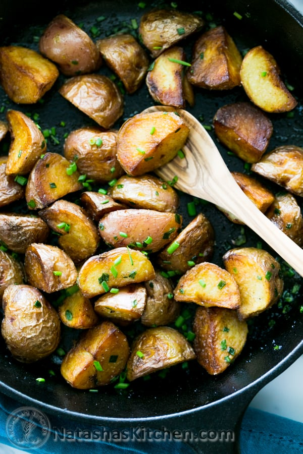 Crisp Sautéed Red Potatoes Recipe. @NatashasKitchen