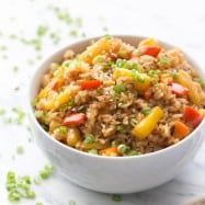 Pineapple Fried Rice: a quick and easy lunch. Great way to use your leftover rice! @natashaskitchen