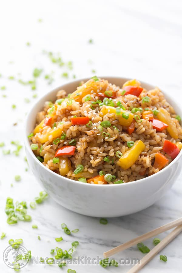 ... pineapple fried brown rice recipes yummly ginger pineapple fried rice