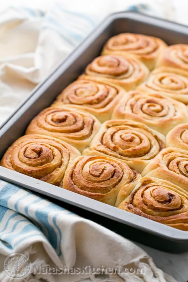 These are soft, fluffy, cinnamony, buttery and crowned with a lavish amount of salted maple glaze. I fell in love when I tried these Cinnamon Rolls @NatashasKitchen