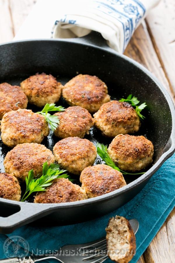 Juicy pork meatballs recipe kotlety for Natashas kitchen