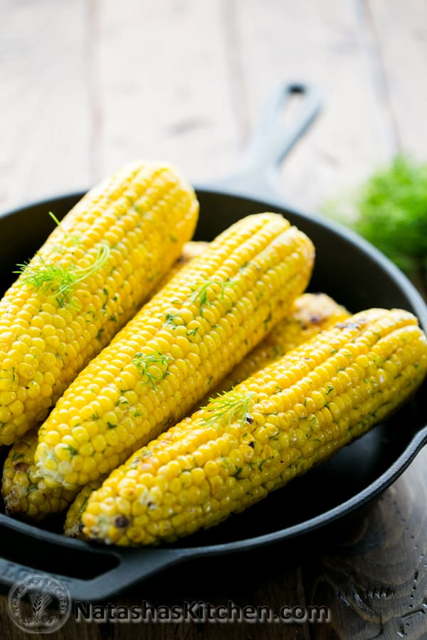 This grilled corn on the cob is so juicy and tender. The flavored butter makes it irresistible! @NatashasKitchen