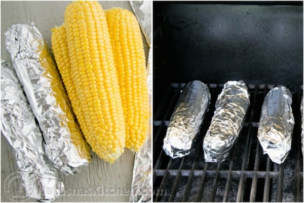 Easy Grilled Corn on the Cob with Lemon Dill Butter-6