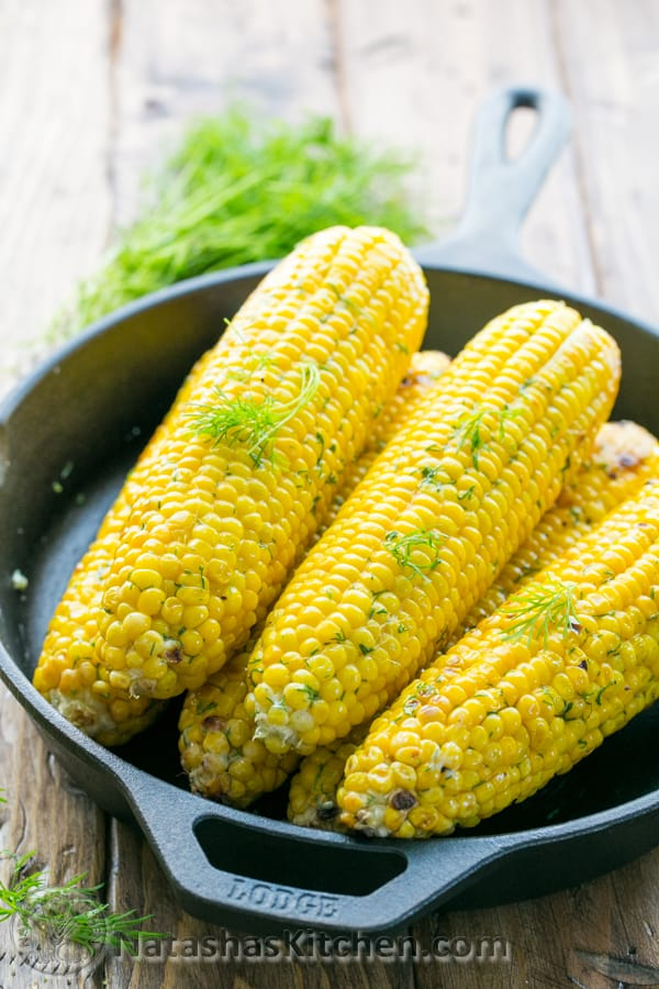 This grilled corn on the cob is juicy and tender. The flavored butter ...
