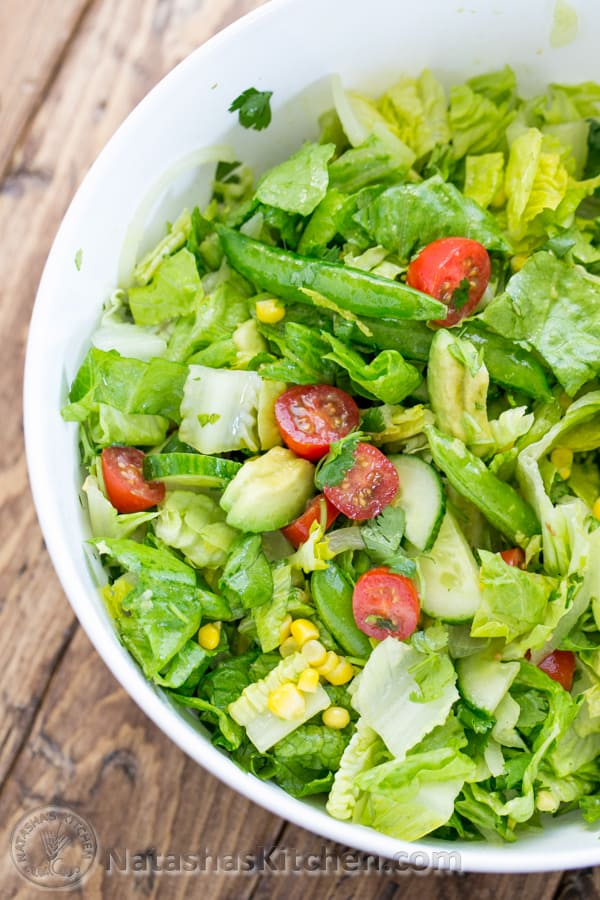 ... Chopped Mexican Salad and Lime Dressing from @NatashasKitchen
