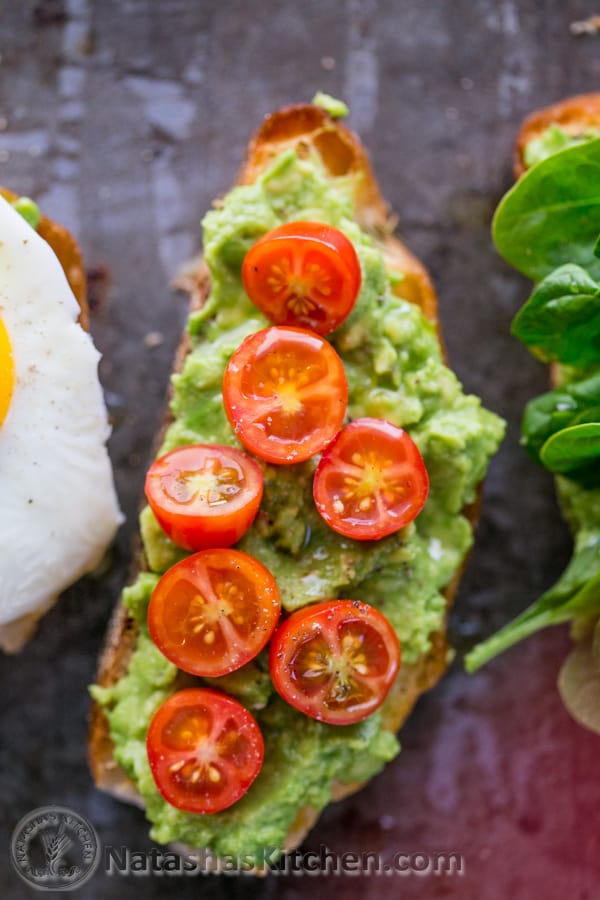 Open Faced Avocado Spread Sandwiches; Healthy and Easy (done in less than 10 min!) @NatashasKitchen