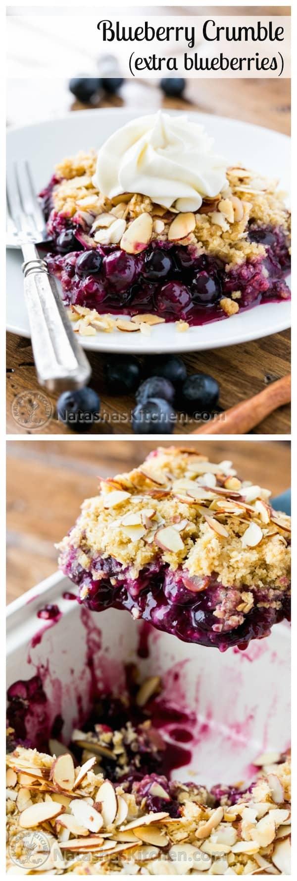 Blueberry crumble for Natashas kitchen