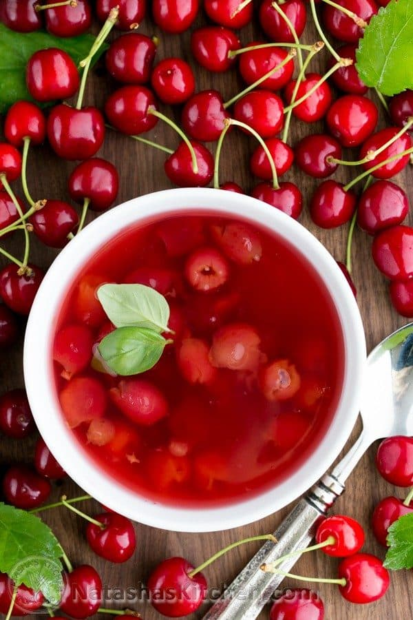 Kissel was one of our favorite childhood treats. This cherry soup kissel recipe is really easy to make and has just 4 ingredients.