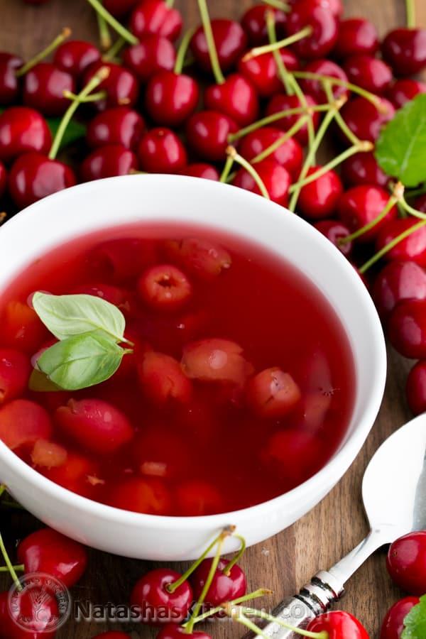 Cherry Summer Soup (Kissel Recipe) Such a treat! @natashaskitchen