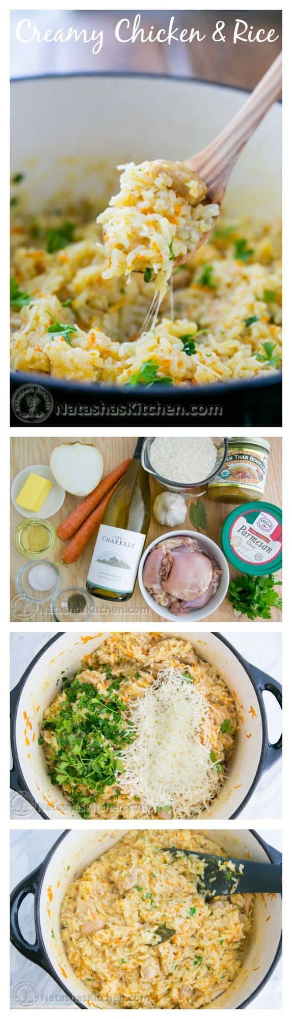 Creamy Chicken and Rice Recipe (a one-pot meal). You'll be going back for refills!