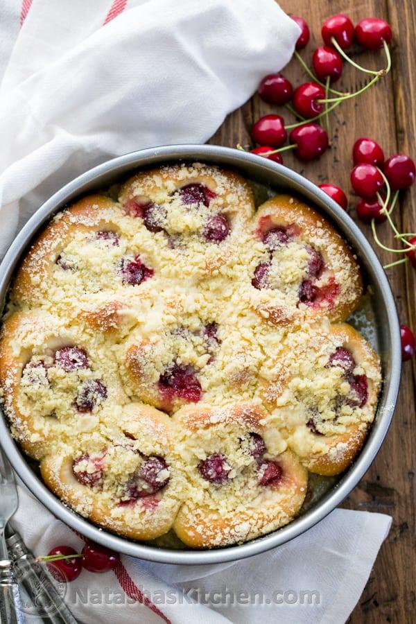 Sweet cherry filled buns vatrushka recipe vatrushki recipe for Natalia s kitchen
