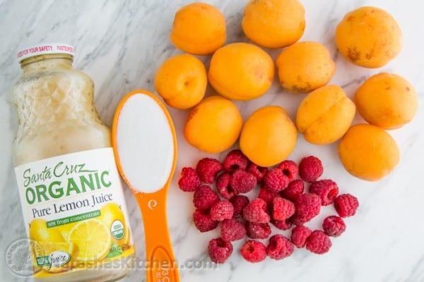 15 minute Raspberry Apricot Preserves