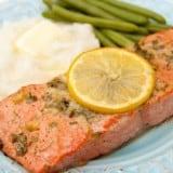 Baked Salmon with Garlic & Dijon