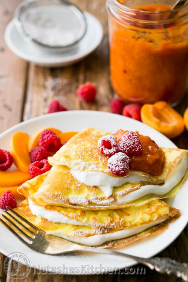 Crepes With Greek Yogurt Cream Crepes Recipe Best Cheese