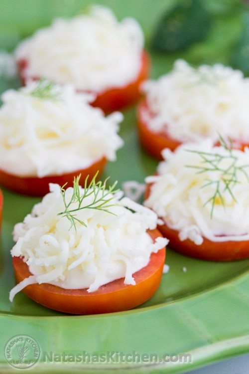 Tomato and Cheese Appetizer, Tomato and Cheese Bites, Tomato Recipe