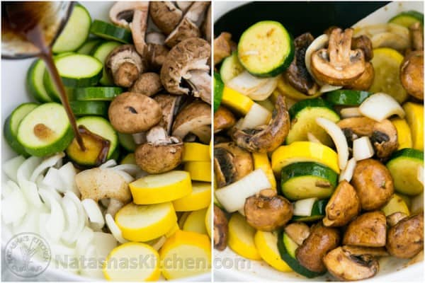 Grilled Zucchini and Mushrooms-2