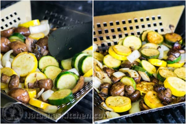 Grilled Zucchini and Mushrooms-3